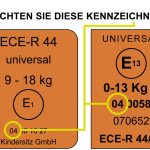 ECE R44/04 Prüfnorm, Zulassung für Kindersitze