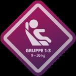 Autokindersitz Gewichtsgruppe 1 - 3
